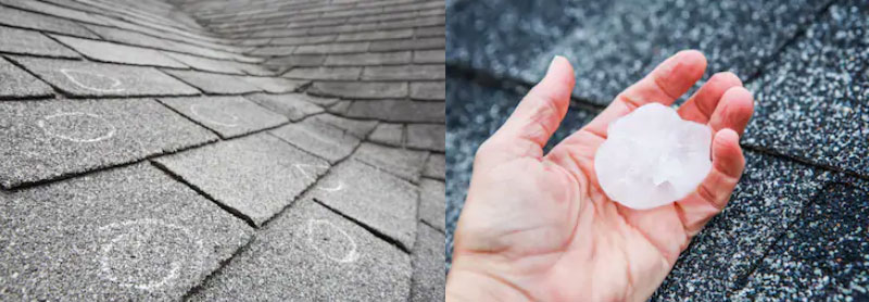 Heavy Rain and Hail Damage Home Roofs